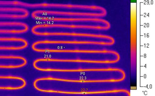 Podlahová rohož termovízia