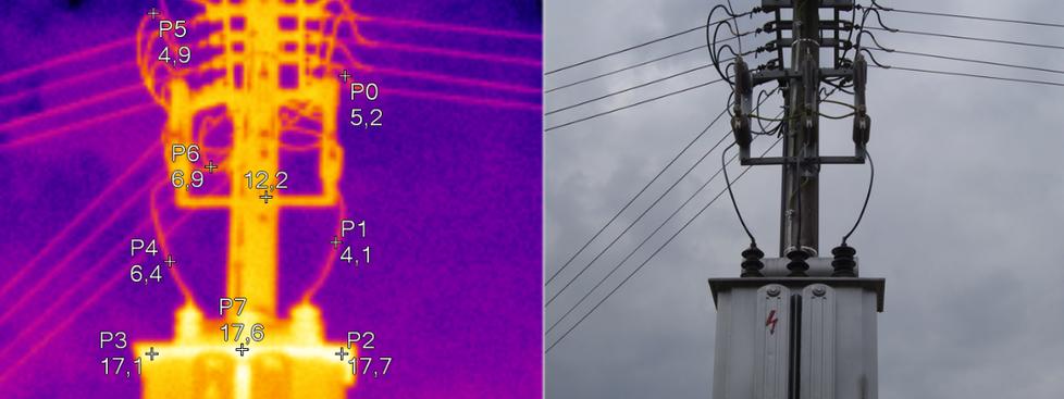 Termovízia elektroenergetického zariadenia