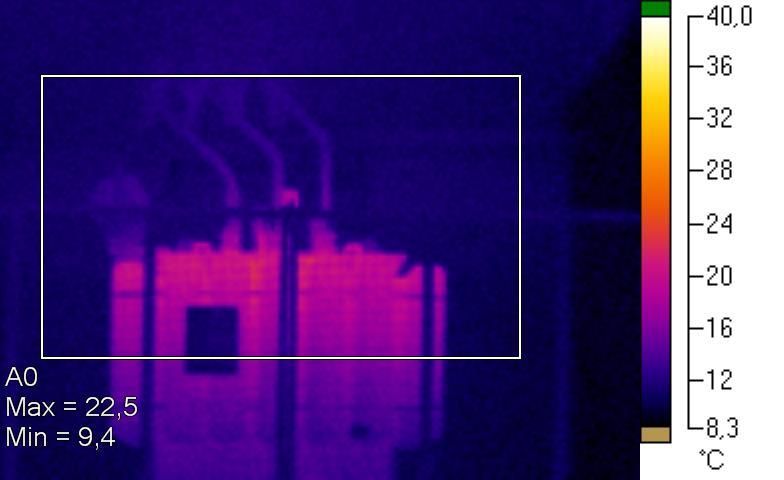 Termosnímok transformátora 1 po oprave.